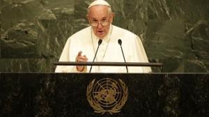 Papst Franziskus vor der UN Vollversammlung