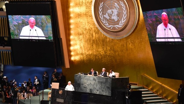 Papst Franziskus vor der UN Vollversammlung_2