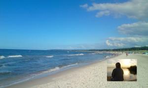 Polnische Ostsee - die Nonne und ich